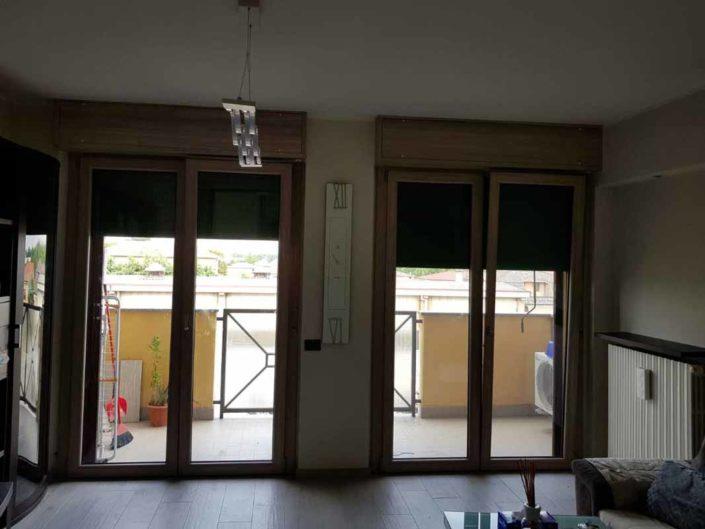 porta-finestra in pvc color legno